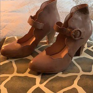 Tan heels.